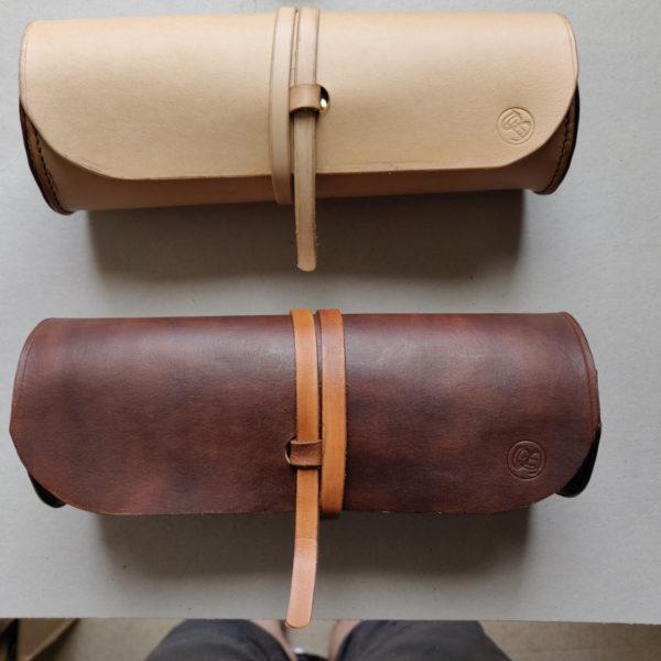 Trousses rondes en cuir