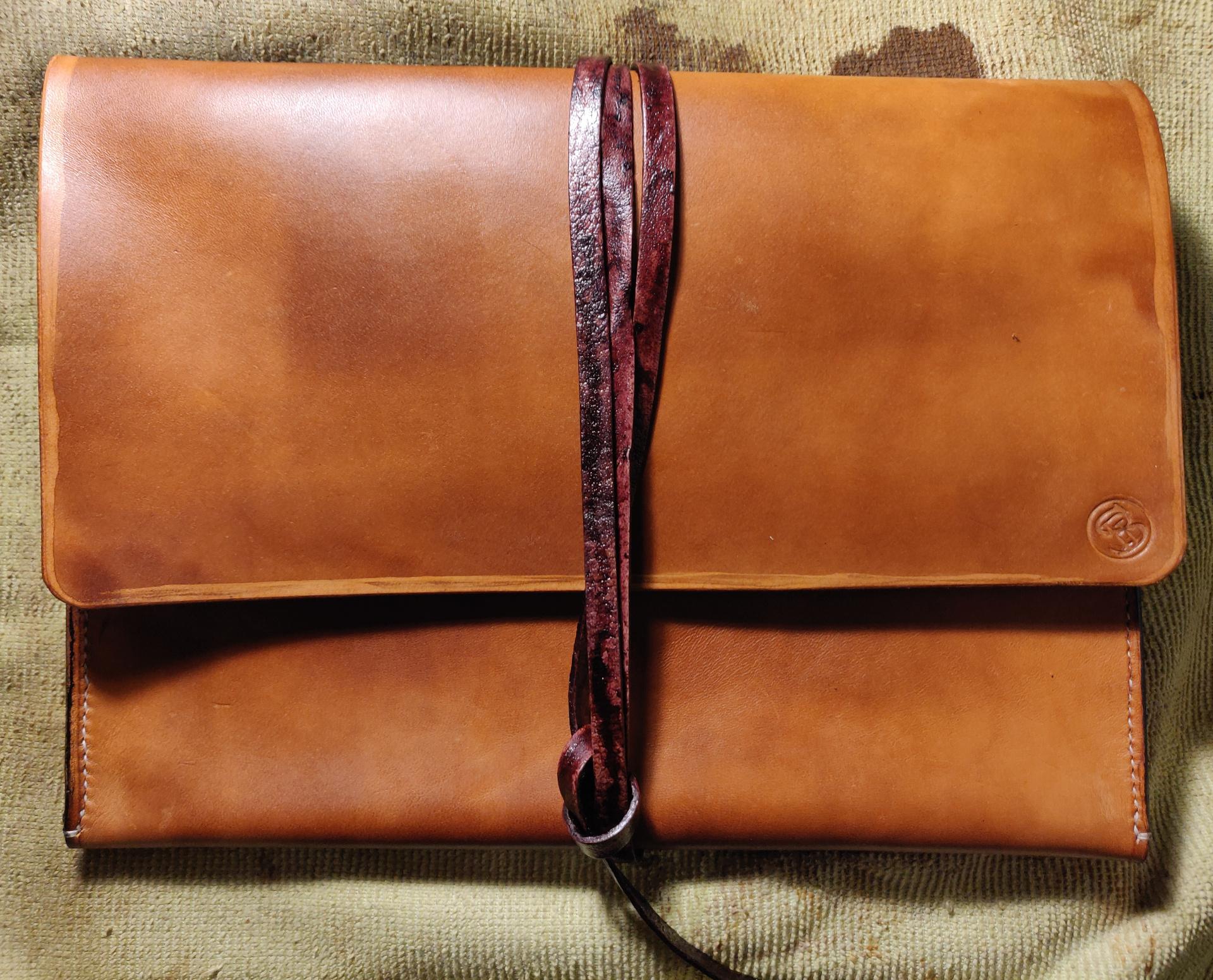 Étui pour iPad en cuir